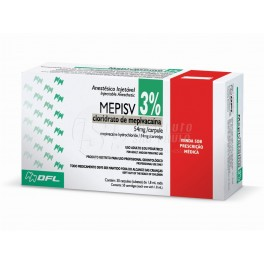Anestésico Mepivacaína caixa com 50