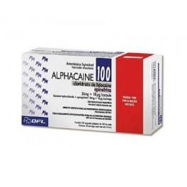 ALPHACAINE Lidocaína Epinefrina 1:100 c/ 50